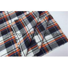 Verificações da forma 100% fio de algodão tingido tecidos Shirting