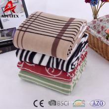 Comfortable new design colorful polar fleece blanket