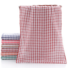 Custom logo face towel 100% cotton yarn dyed jacquard hand towel bath towels sets