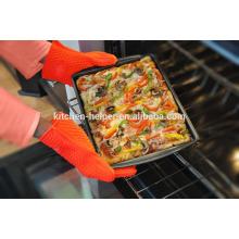 Custom Design Food Grade Cozinha Cozinhar Forno Silicone BBQ Luvas Resistente ao calor / Silicone Grill Forno BBQ Luva / Forno Mitt