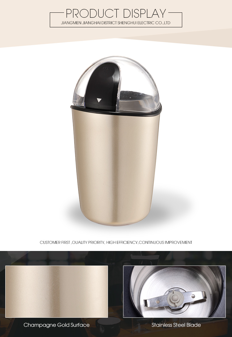 Kitchen Appliances Plastic Body Coffee Bean Grinder