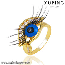 Fashion Charm 14k Gold-Plated CZ Eye Imitation Jewelry Finger Ring -13746