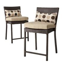 Cadeira de fezes jardim de vime da resina do pátio mobília do Rattan Bar ao ar livre