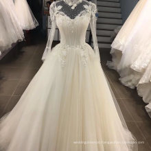 Hot Lace Applique Beading Wedding Dress