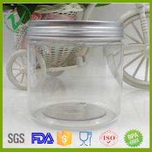 PET recipiente de plástico vazio para sorvete com tampa de alumínio