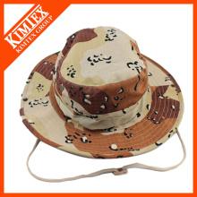 Оптовая Custom Дешевые печати вышитые шляпы ковша со строкой