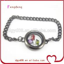 Fabricante de pulseira cool aço inoxidável especial mens medalhão