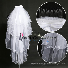 Chic Bridal Veils con nudo de arco blanco nupcial boda flor velo