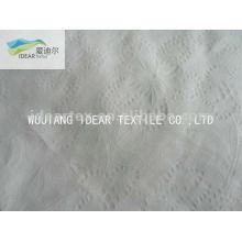 Planta CVC burbuja Seersucker 65% algodón 35% poliester tela para cortina