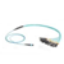 Кабель волоконно-оптического кабеля OM3, 12-жильный MTP MPO-стиль к (12) LC многомодовый кабель для волоконно-оптических кабелей OM3
