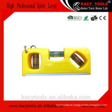 KC-37208 Plastic cheap mini gift keychain spirit level with magnetic