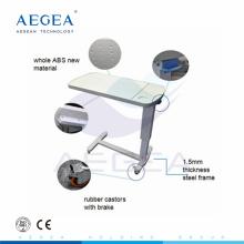 Tablas de mesilla de noche AG-OBT002 con marco de metal y tablero superior de ABS