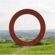 Large Outdoor Metal Art Corten Steel Circle Ring Sculpture