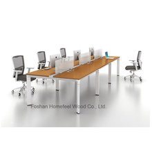 Modern Office Furniture 6 Person Straight Office Workstation (HF-YZK023)