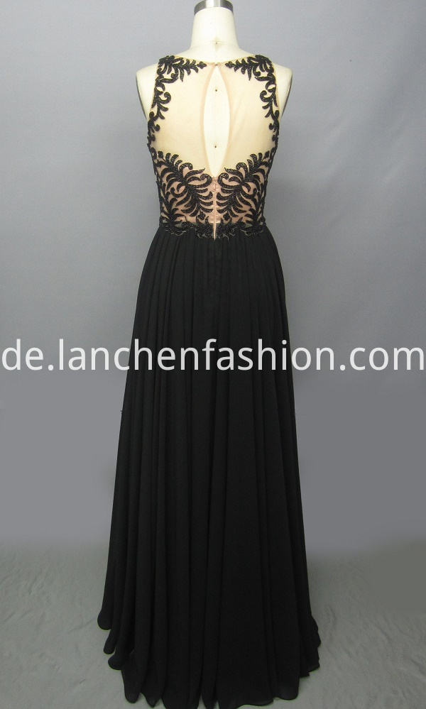 A Line Embellished Evening Dress
