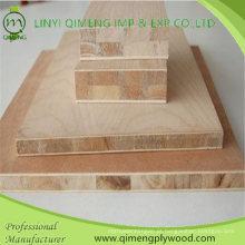 Fornecimento de madeira compensada de placa barata de bloco de preço com 15-19 mm