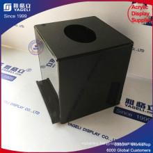 Cheap Plexiglass Acrylic Donation Box with Key Lock