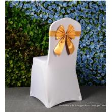 bon matériau bowknot couleur banquet chaise chaise de mariage décoration