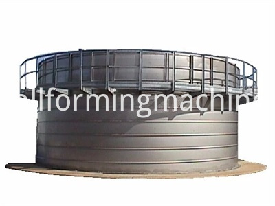 Thick Steel Storage Grain Silo Corrugated Panel Roll Forming Machine