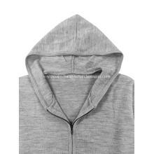 Men`s Basic Knitted Full Zip Hoodie