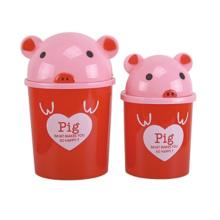 Rojo diseño cerdo plástico tirón-en la Papelera (A11-5802)