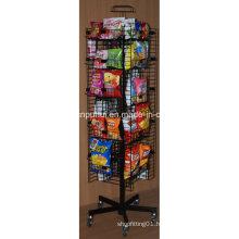 Floor Rotating Metal Snack Food Display Rack (PHY1068F)