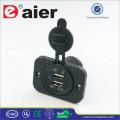 Daier Dual USB Charger, Car USB Socket, USB Light Socket *