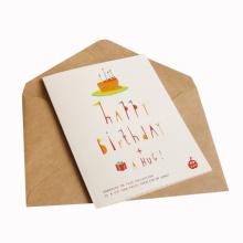 Farbenreiche kundengebundene Geschenk-Papier-Geburtstags-Karte
