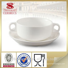 Wholesale chinese porcelain set, white ceramic soup bowls