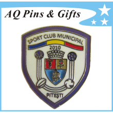 Hot Football Imitation Cloisonne Metal Lapel Pin Badge (badge-089)