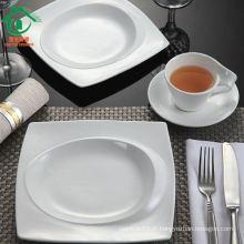 Vente en gros de vaisselle en porcelaine blanche, vaisselle en céramique blanche pour restaurant