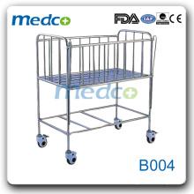 Cama de bebê de hospital de aço inoxidável (cama de criança) B004