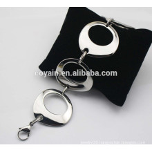 316L stainless steel silver big chain link bracelets