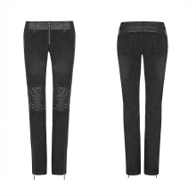 PUNK RAVE girls punk tight handsome plus size casual party club black women wholesale slim pant