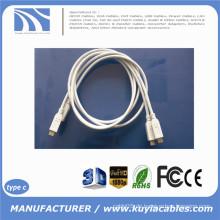 1m 3ft USB Typ C 3.1 bis Typ C 3.1 Daten Sync Ladekabel für Macbook Telefon