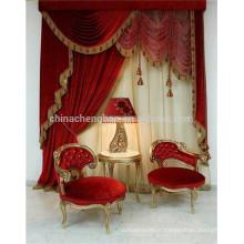 Hot rideaux classiques de luxe rideaux de luxe