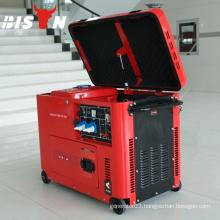 BISON CHINA TaiZhou 6.5kw Silent Type ISO9001 CE Man Diesel Generator
