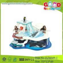 Brinquedos de pesca de madeira brinquedos de pesca marítima pesca de animais do mar