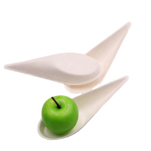 Recycled Biodegradable Pulp Small Spoon with Drop shape