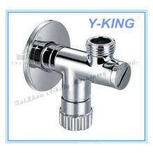 Vanne angulaire en laiton chromée pour toilette de salle de bain (YD-5034)