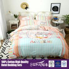 100% algodón ropa de cama cuna conjunto / alta qality diseño personalizado niños juegos de cama
