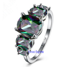 Hot Sell Jewelry-Mystic Cubic Zirconia Brass Rings (R0852)