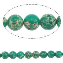 2015 Gets.com 4-6-8-10-12-14mm de nombreuses couleurs, Round Natural Photo Jasper Beads