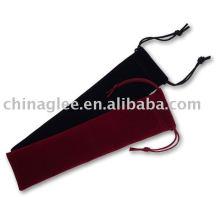 bolsa de la pluma de promoción terciopelo con cadena