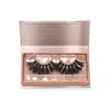 7D101 Hitomi custom lash box Real Mink Lashes 3d Mink Eyelashes paper eyelash packaging 3d real mink eyelash