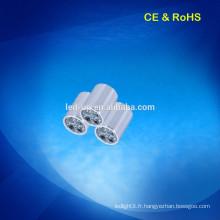 AC 110V-240V 55mm décoration surface montée LED Spot Lights 4w avec super brillant