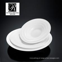 Hotel oceano linha moda elegância branco porcelana sopa tigela salada PT-T0594