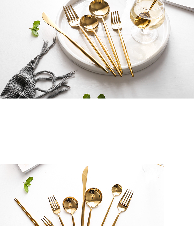 Stainless Steel Shiny Gold Cutlery