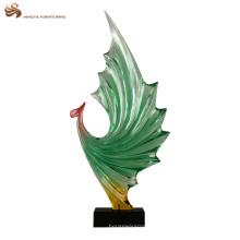 Statue de phoenix transparente en résine personnalisée à la décoration moderne pour cadeau