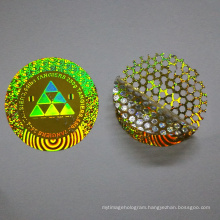 Holographic tamper proof laser round anti-counterfeiting hologram pattern self adhesive sticker